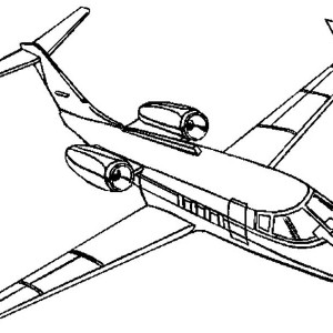 Personal Jet Coloring Page