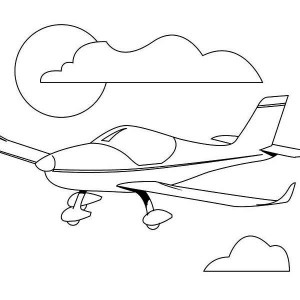 Pilot Training Airplain Coloring Page