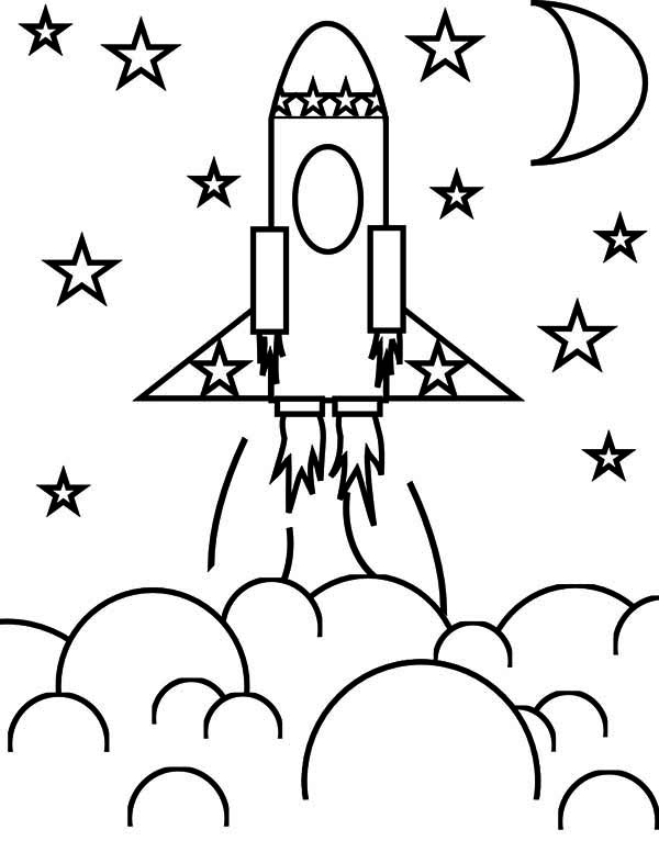 Space stars coloring pages