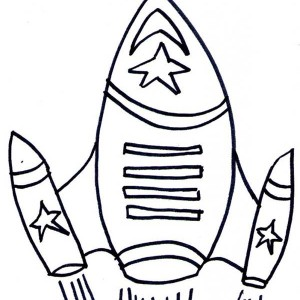 Rocket Ship Top Speed Coloring Page