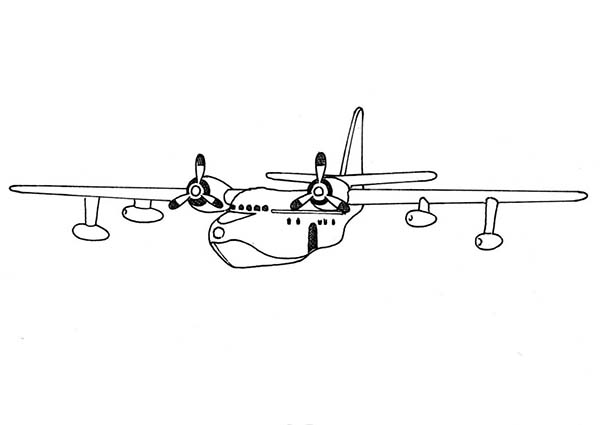 Seaplane Coloring Page For Kids - Download & Print Online ...