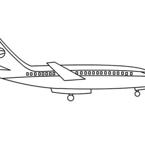 Simple Airline Plane Coloring Page