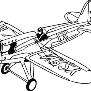 Single Engine Fighter Coloring Page