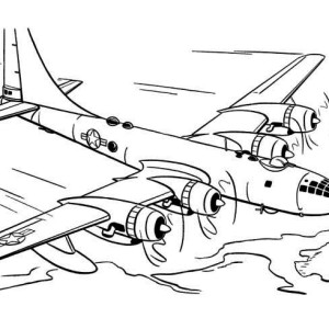 Skyfortress Airplane Coloring Page