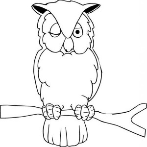 Sleepy Owl Coloring Page