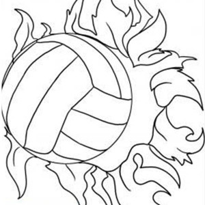 Super Power Spike Volleyball Coloring Page