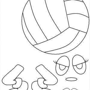Volleyball Buddy Coloring Page