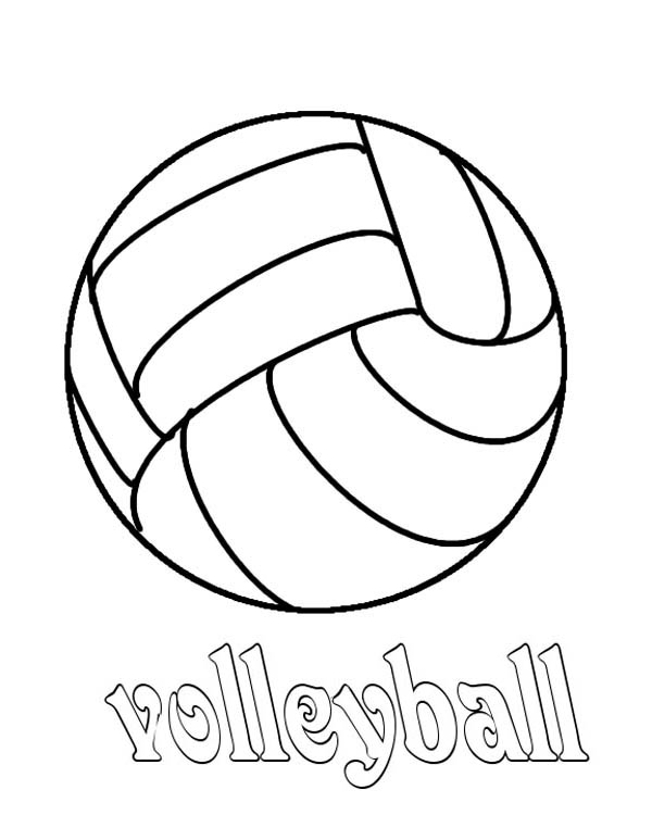 volleyball coloring page - Download