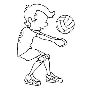 Volleyball Service Coloring Page