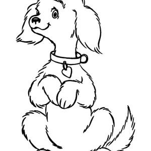 A Cute Spoil Dog Coloring Page
