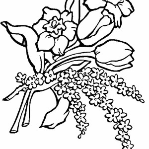 A Group Of Flower Coloring Page