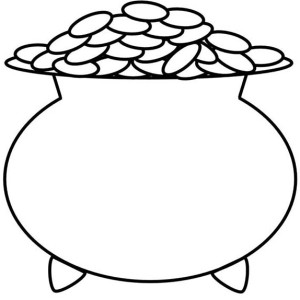 A Kids Drawing Of Pot Of Gold Coloring Page
