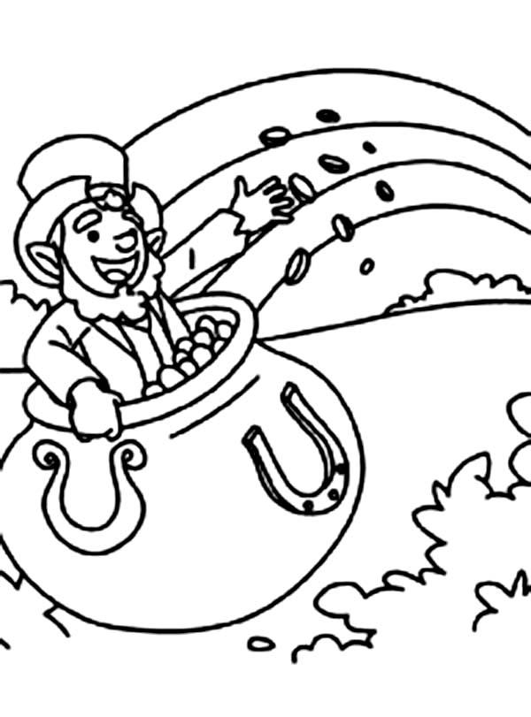 online leprechaun coloring pages - photo#29