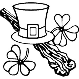 A Leprechauns Hat On St Patricks Day Coloring Page