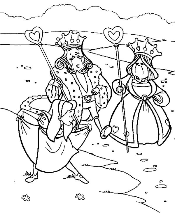 Alice Bowing To King And Queen Of Heart In Wonderland ...
