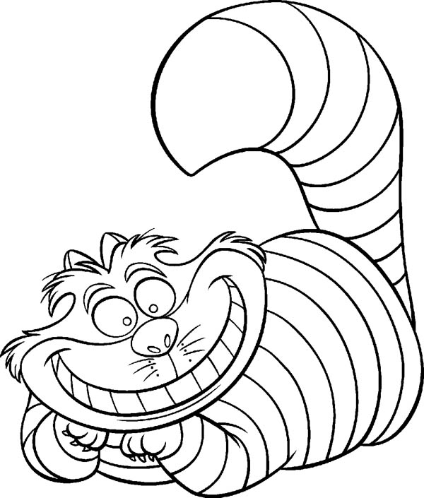 Alice In Wonderland Character Cheshire Cat Coloring Page ...