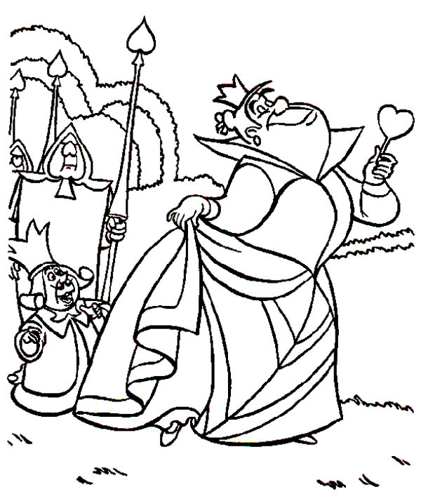 Alice In Wonderland Character King And Queen Of Heart Coloring Page Download Print Online Coloring Pages For Free Color Nimbus