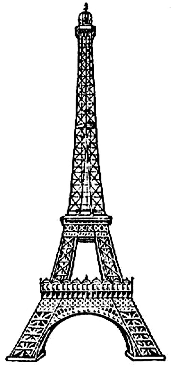 coloring pages eifell tower | Amazing Eiffel Tower Coloring Page - Download & Print ...
