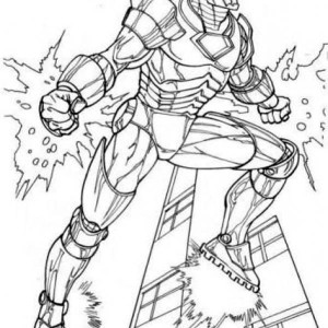 Amazing Iron Man In The Avengers Coloring Page