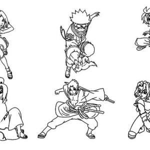 Amazing Naruto Characters Coloring Page