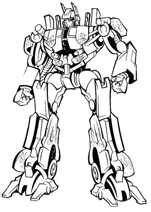 Amazing Optimus Prime In Transformers Coloring Page Download
