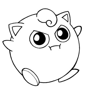 Amazing Pokemon Jigglypuff Coloring Page