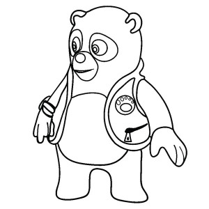 Amazing Special Agent Oso Coloring Page