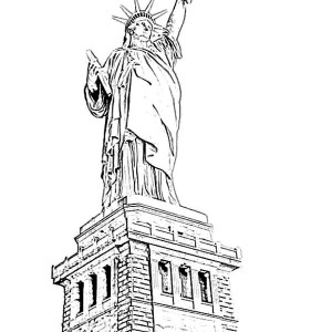 Amazing Statue Of Liberty Coloring Page