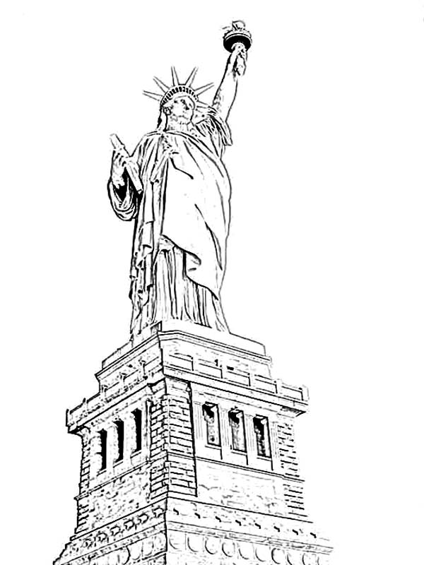 Amazing Statue Of Liberty Coloring Page - Download & Print Online Coloring  Pages For Free Color Nimbus