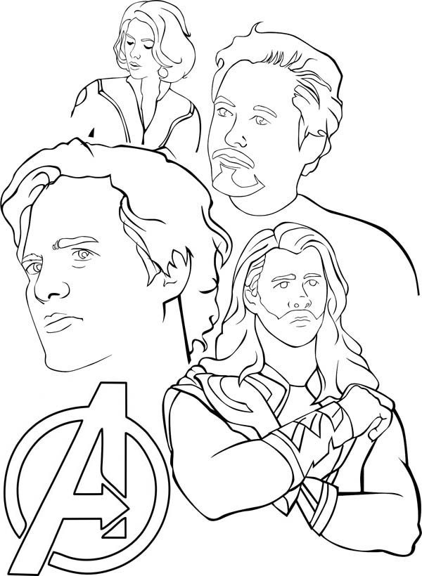 Amazing The Avengers Coloring Page