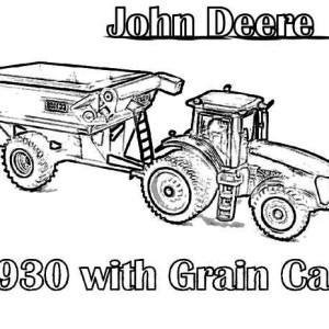 Amazing Tractor Coloring Page