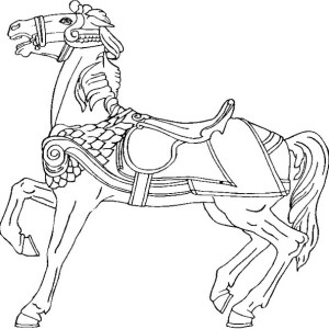 Amazing War Horse In Horses Coloring Page