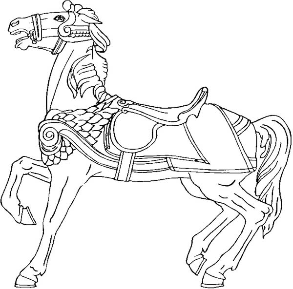Amazing War Horse In Horses Coloring