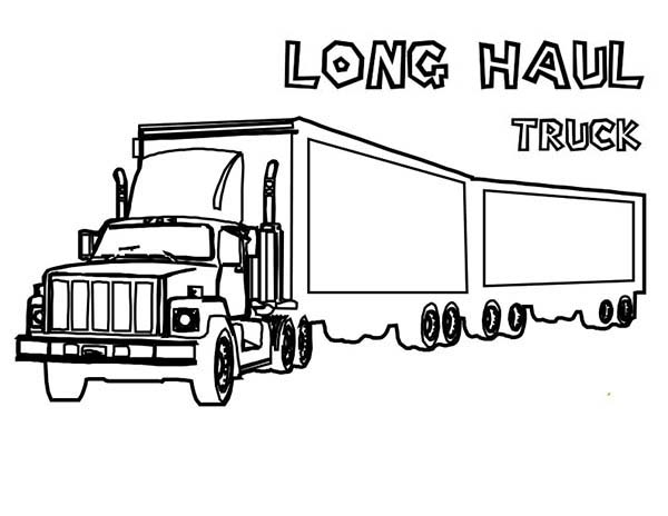 truck trailer coloring pages - photo#29