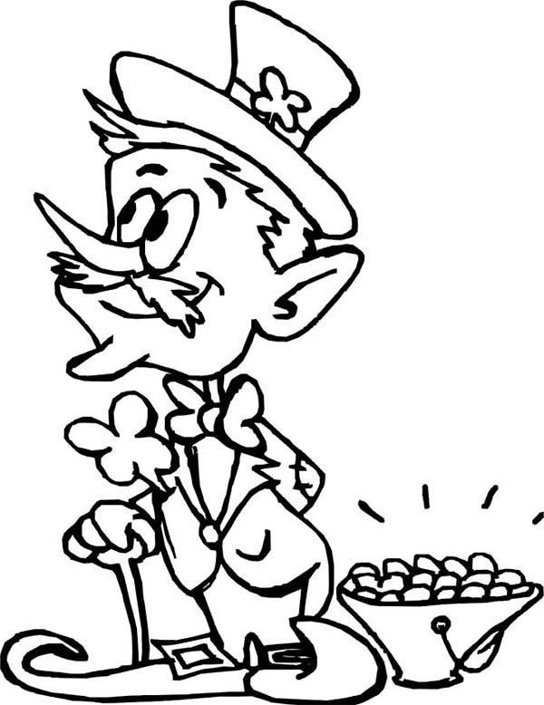 online leprechaun coloring pages - photo#14