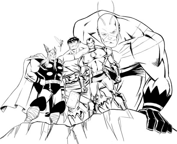 Avengers Assemble In Avengers Coloring Page Download