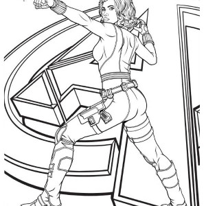 Avengers Character Black Widow Coloring Page
