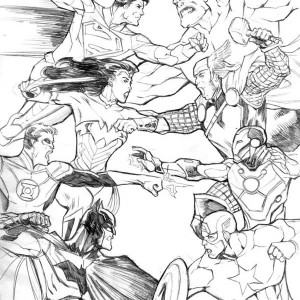 Avengers Vs Justice League In Avengers Coloring Page