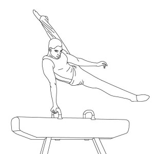 Awesome Balance Beam Gymnastic Coloring Page