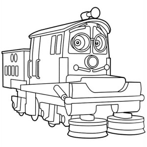 Awesome Calley Of Chuggington Coloring Page