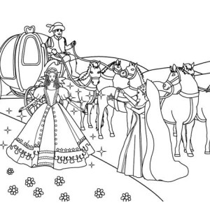 Awesome Cinderella Picture In Cinderella Coloring Page
