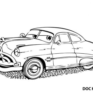 Awesome Doc Hudson Disney Cars Coloring Page