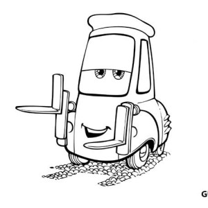 Awesome Guido In Disney Cars Coloring Page