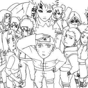 Awesome Naruto Shippuden Coloring Page