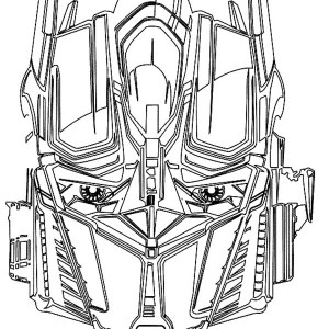 Awesome Optime Prime Head Picture From Transformers Coloring Page