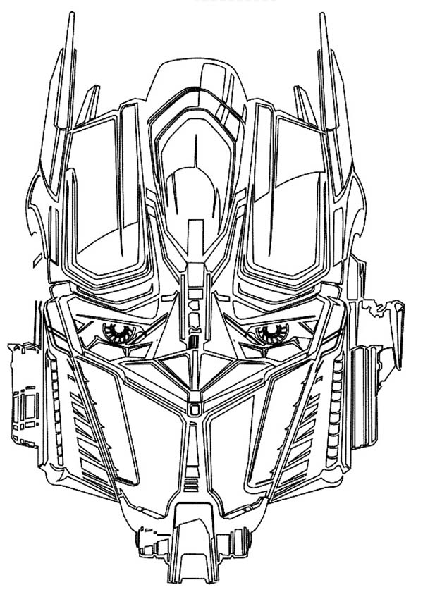 Awesome Optime Prime Head Picture From Transformers Coloring Page ...