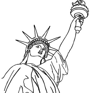 Awesome Picture Of Statue Of Liberty Coloring Page