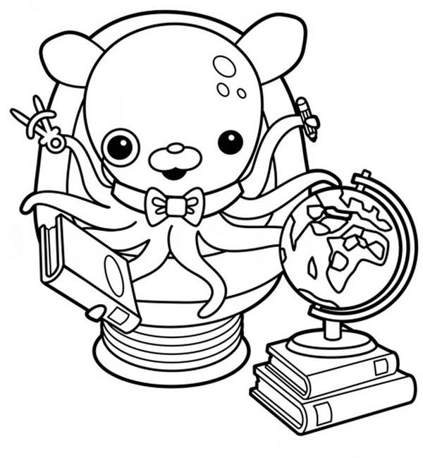 Awesome Professor Inkling Octopus from The Octonauts Coloring Page ...