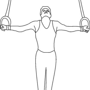 Awesome Rings Artistic Gymnastics In Gymnastic Coloring Page