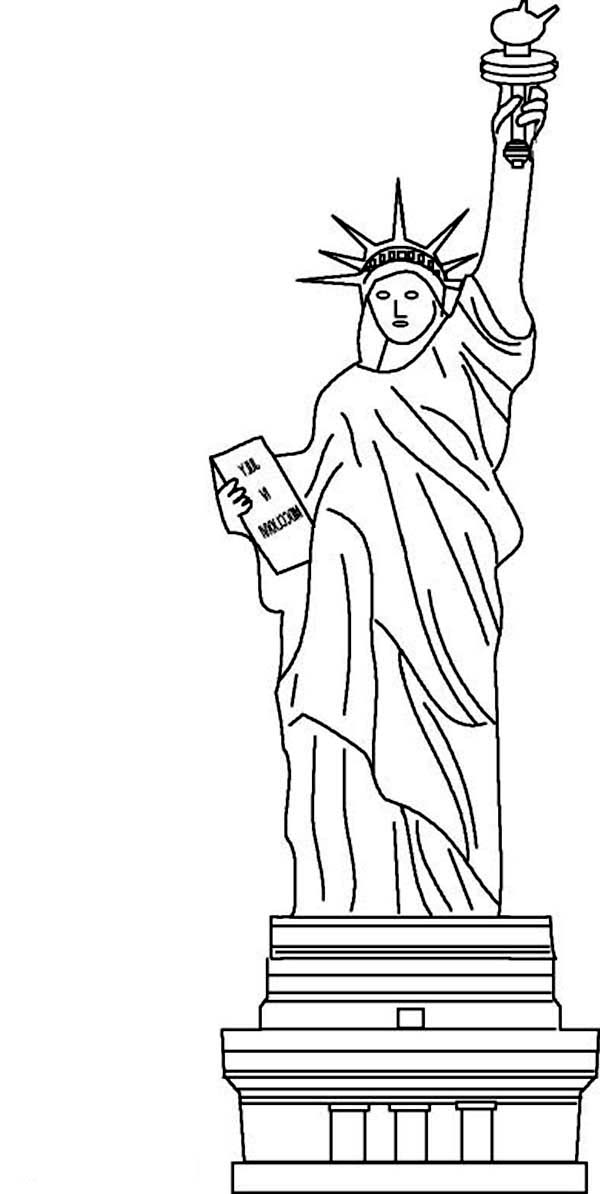 Awesome Statue Of Liberty Coloring Page - Download & Print Online Coloring  Pages For Free Color Nimbus